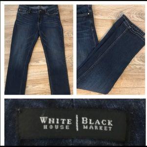 White House Black Market crop leg dark jeans 6
